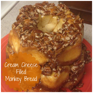Cream Cheese Filled Monkey Bread