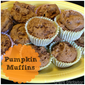 Pumpkin Muffins | Craft Dictator