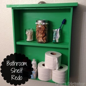Bathroom Shelf Redo | Craft Dictator
