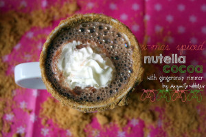 Christmas Spiced Nutella Cocoa with Gingersnap Rimmer