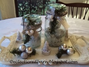 holiday mason jar display