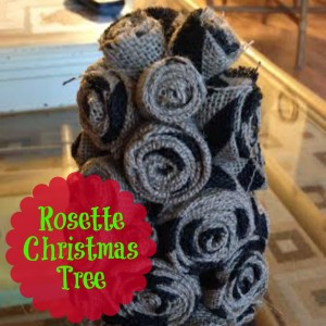 Rosette Christmas Tree | Craft Dictator #christmas #burlap #christmastree