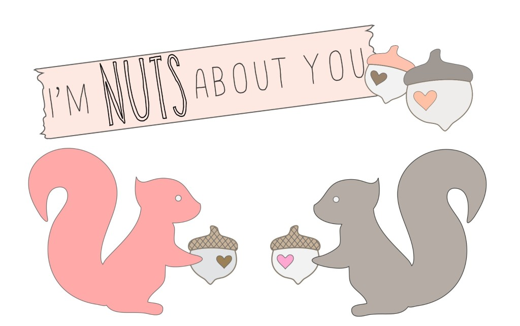 I'm Nuts About You Valentine's Printable | Craft Dictator #printable #valentines