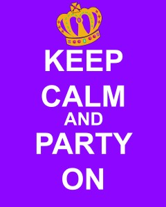 KeepCalmAndPartyOnPurplePlain