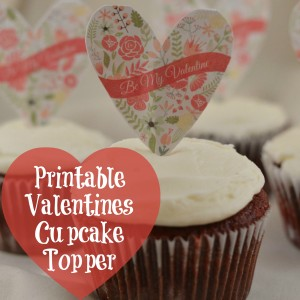 Printable Valentines Cupcake Topper | Craft Dictator