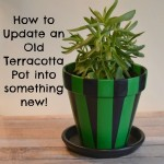 How to Update an Old Terracotta Pot into something new!
