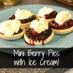 Mini Berry Pies With Ice Cream | Craft Dictator