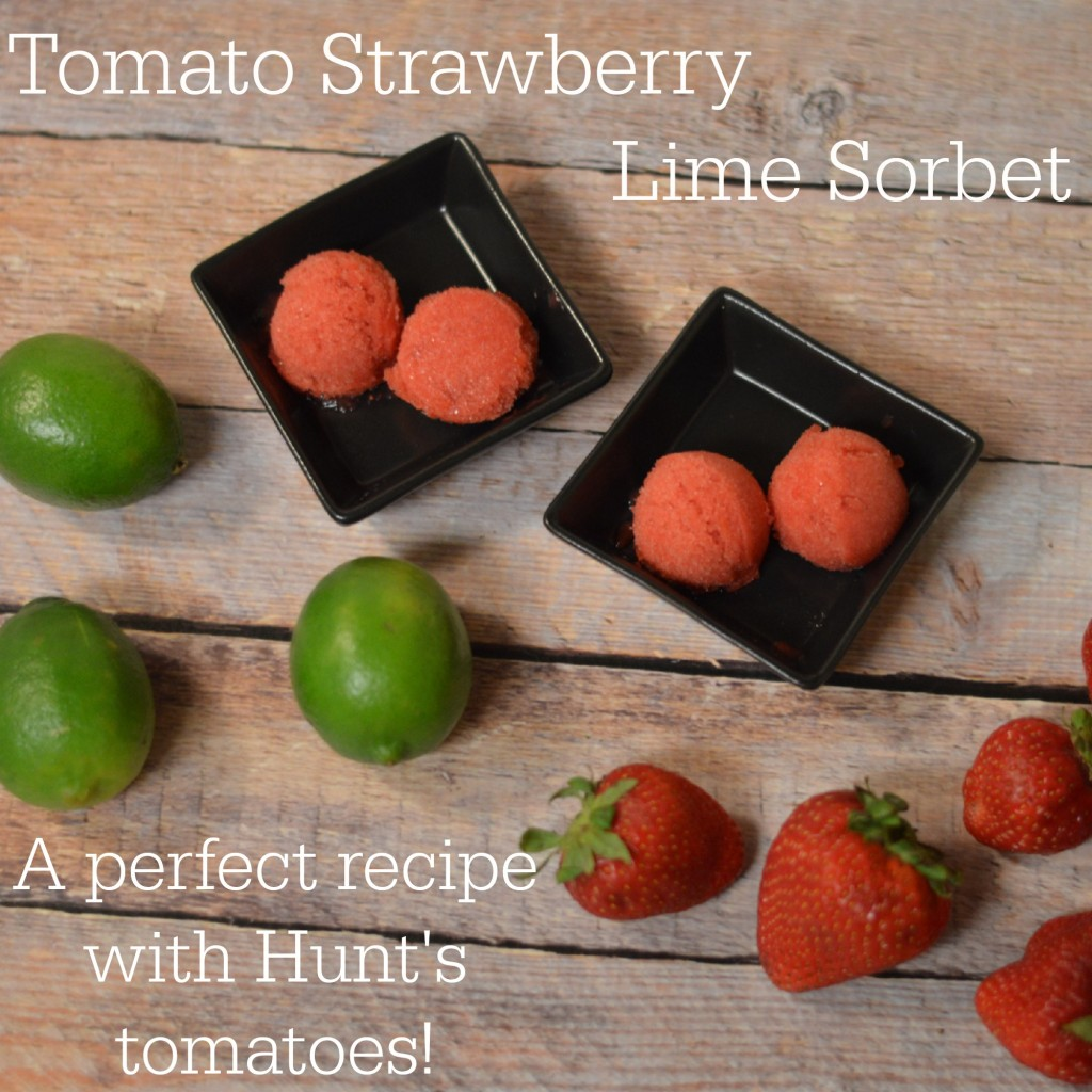 Tomato Strawberry Lime Sorbet a perfect recipe with tomatoes | Craft Dictator
