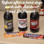 Refuel after a hard days work with Snickers® and Dr.Pepper